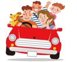 家族とイヌのドライブ