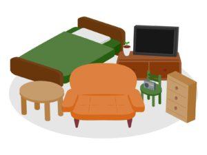 火災保険で補償される家具の画像