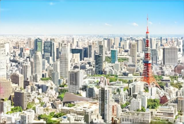 東京タワーと都心のビル群