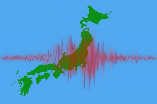 地震の波形と日本列島
